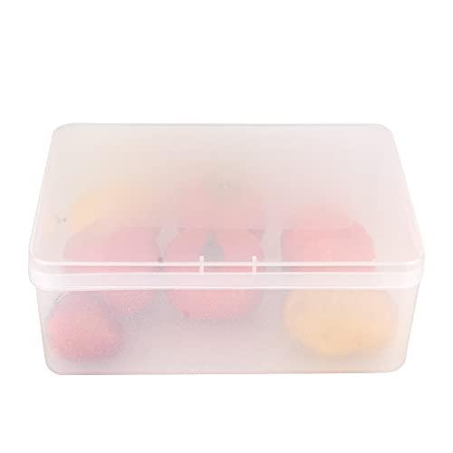 Fdit Vorratsbehälter Küchenaufbewahrung, Aufbewahrungsbox, für Badezimmer für Küche(transparent, Groß 30 * 21,5 * 11cm)