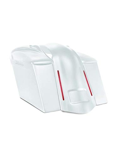 Great Deal! Harley Davidson 4 extended stretched saddlebags and LED fender kit no cut outs + 8 spe...