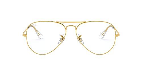 Ray-Ban Aviator-0rx64893086 Gafas, Legend Gold, 55 Unisex