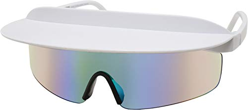 Urban Classics Visor Sunglasses Gafas, blanco, Talla única Unisex Adulto