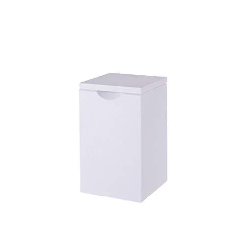 Lpiotyuljt Cubo Basura Reciclaje, Latas de Basura doméstica Que se Pueden Colocar en la Sala de Estar de la Sala de baño Dormitorio de la Cocina PP Material Flip-Open Basura Puede (Color : White)