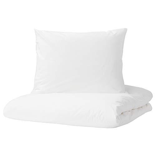 Funda nórdica y funda de almohada DVALA 150x200/50x60 cm blanco