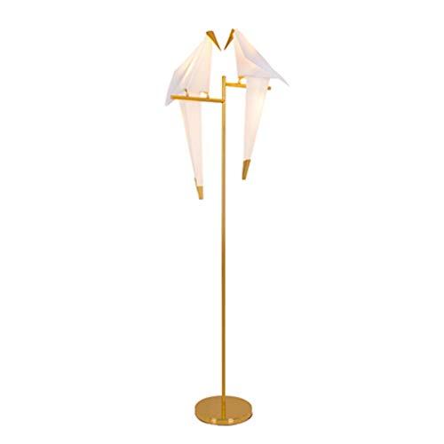 Yanyan - Lámpara de pie con forma de pájaro nórdico, lámpara de pie creativa, Mille grúas de papel, para salón, dormitorio, decoración en casa, lámpara de pie para salón o sala de estar