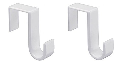 1st Choice Pack of 2 Over-The-Door Hook, White, W