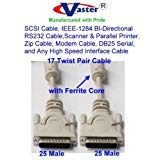 SuperEcable SKU-20120 - Paralle Cable, IEEE-1284 BI-Directional RS232 Cable DB25 Male - Male, 25 Ft