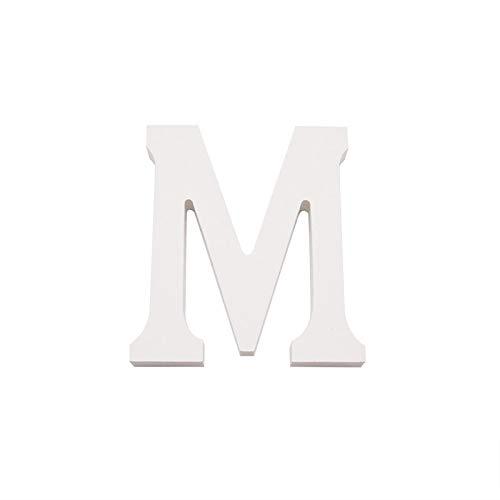 Arte infinita - Letras y números de madera alfabeto para decoración 15 cm (M)