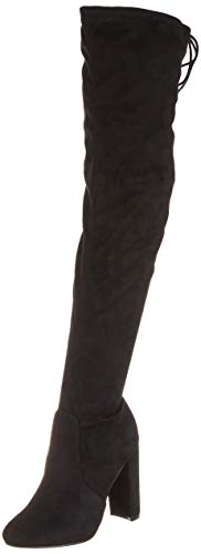 Donna Tacco Allungare Lungo sopra Il Ginocchio Equitazione vestibilità Ampia Alto Stivali - Nero - UK5/EU38 - KL0074