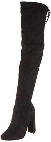 Dames blokhak strekken lang over de knie rijden breedte pasvorm hoog sitefel