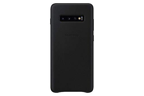 Leather Cover für Galaxy S10+ Schwarz