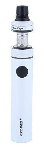 Exceed D19 E-Zigaretten Set mit 1500 Akkukapazität - max. Ausgangsleistung 35 Watt - 2ml Tankvolumen - von InnoCigs - Farbe: weiss