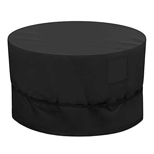 Kovshuiwe Cubierta Redonda para Muebles de Jardín,420D Oxford Cubierta de Muebles,Redonda Funda Muebles Impermeable,Fundas para Muebles de Jardín,Cubierta de Mesa de Jardín,Anti-Viento(135x80cm)