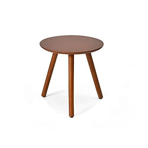 Exquisitos Muebles pequeños / Sofá Mesas laterales, Mesa redonda de madera pequeña, Layadora de una sola capa fácil de instalar Mesa a la lateral para el dormitorio Mesita de noche Cafetería Cafetería
