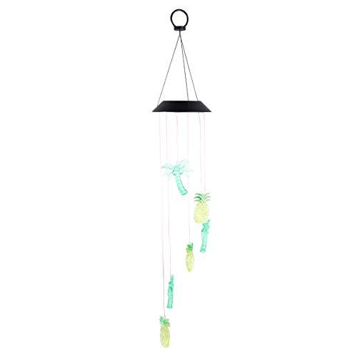 Mobestech Solar Chimes Outdoor Ananas Kokosnoot Windgong Glitter Hangende Plant Boom Wind Bel Lamp Ornament Voor Raam Muur Tuin Tuin Decoratie