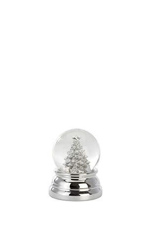 Unbekannt Schneekugel Christbaum Klein, versilbert, H 6,5cm D 5,0cm