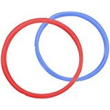 Instant Pot Replacement Silicone Sealing Ring for Electric Pressure Cookers (5.7L Red/Blue)