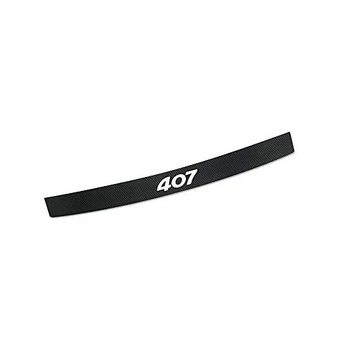 CAXCLPT Coche Protección Fibra Carbon Parachoques, para Peugeot 407 Umbral Pegatinas Tira de Protección Maletero Antirrayas Decorativas Accessories