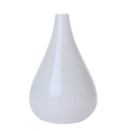 BESPORTBLE Jarrón blanco pequeño con forma de capullos de flores, moderno y sencillo, para escritorio, minimalista, para el hogar, la oficina, decoración del corazón, estilo 1, vidrio, Blanco, Stil 2