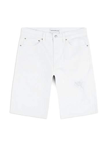 Calvin Klein Regular Short Shorts, Bianco (DA085 White DSTR 1CD), W29 (Taglia Produttore: NI29) Uomo