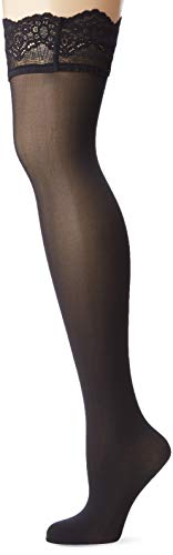 Wolford Damen Halterlose Strümpfe & Socken (LW) Velvet Light Stay-Up, 40 DEN,black,Medium (M)