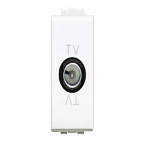 BTicino LN4202D Livinglight Presa TV Diretta, 1 m