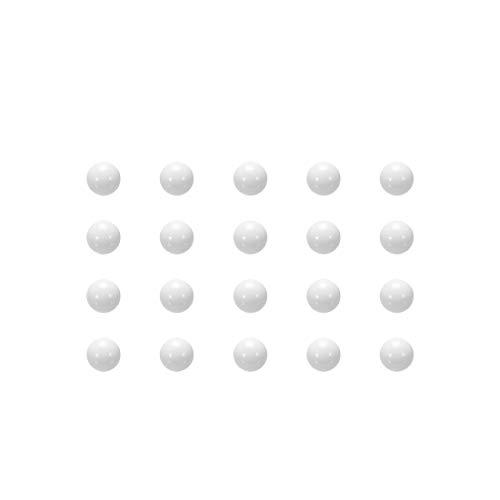 sourcing map Anillo de moneda POM de 5 mm que hace bolas, bola de rodamiento de plástico 50 piezas