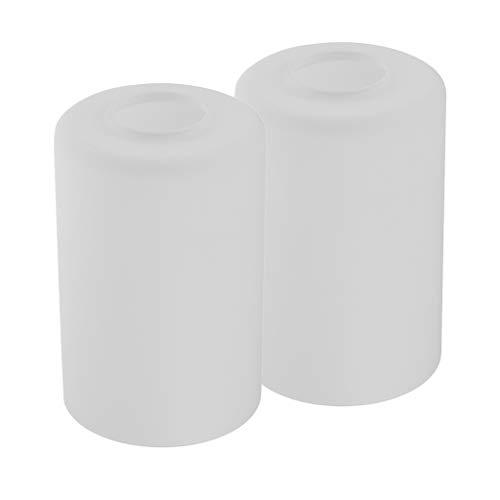2 Piezas Lámpara de Techo Cilíndrica Cubierta Pantalla Colgante Complimento