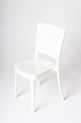 Lucienne Sedia POLICARBONATO extralucido Bianco Puro - Set 4 sedie - 11L0014