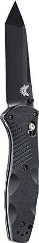 Benchmade - Barrage 583 Knife, Tanto Blade, Plain Edge, Coated Finish, Black Handle, Made in the USA