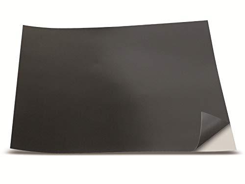 Unbekannt 206118 1533553 Magnetische Klebefolie, 200x200x0,5mm, schwarz, 1-Pack