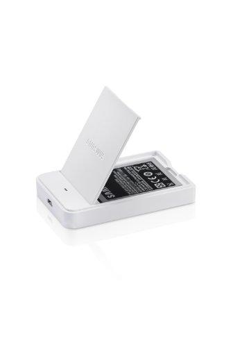 Samsung EB-S1P5G Akku und Ladestation für Galaxy Kamera weiß