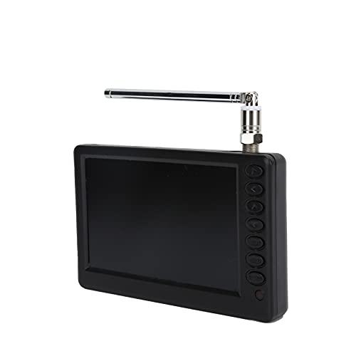 TV digital portátil de 5 pulgadas, TV estéreo 1080P, soporte USB y tarjeta de memoria, batería de litio recargable de 1500 Mah, adecuada para cocina de camping al aire libre, etc.