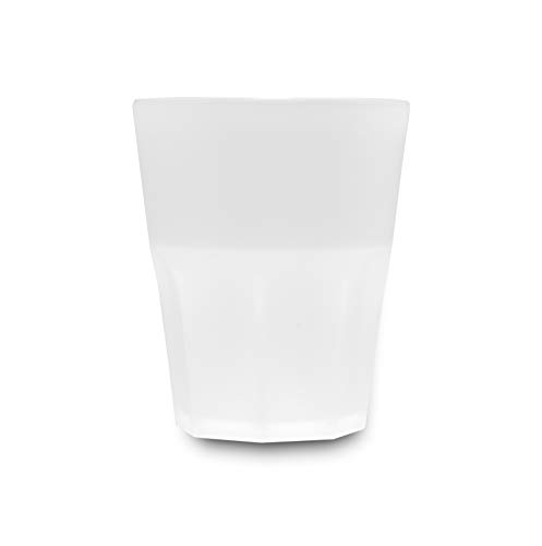 Garnet Rox Frost - Juego de 6 vasos reutilizables, 29 unidades, apto para lavavajillas, 29 vasos, 25 cl, fabricado en Italia, plástico