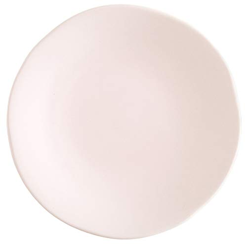 Fortessa Vitraluxe Dinnerware Heirloom Matte Finish Bread & Butter Plate 6.25-Inch, Blush, Set of 4