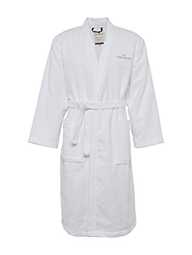 Tom Tailor 0100300 Bata de baño Frotar Tamaño M, White, algodón, Blanco