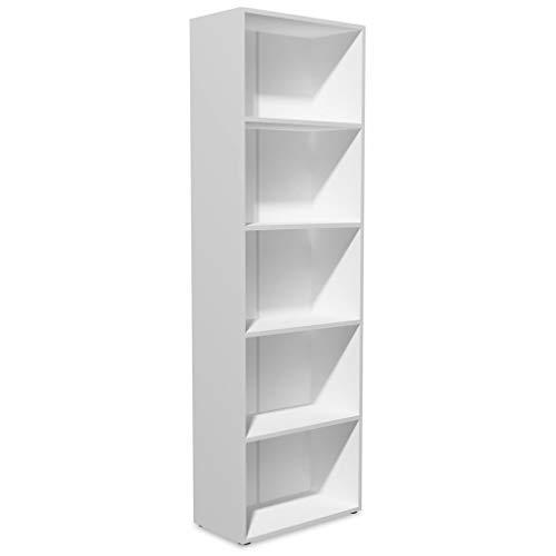 vidaXL Libreria Truciolato 60x31x190 cm Bianca Scaffali Ripiani Mensola Libri