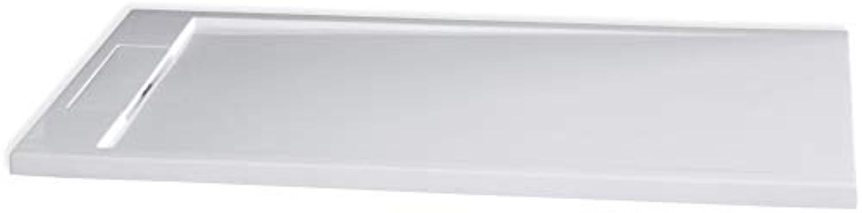 Bernstein Badshop Duschtasse rechteckig Mineralguss Duschwanne M2480CW - Wei glnzend - 140x80x3,5cm