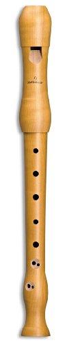 Mollenhauer Blockflöte Sopran Blockflöte Barock 1042 Student, Birnbaum, natur, Doppellöcher
