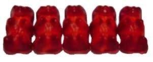 Dunkelrote Gummibärchen von Haribo (Himbeere) - 100g