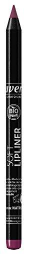lavera Soft Lipliner -Plum 04- Crayon à lèvres ∙ Texture durable ∙ Bases de Maquillage pour les Lèvres Cosmétiques naturels Make up Ingrédients végétaux bio 100% Naturel Maquillage (1.4 g)