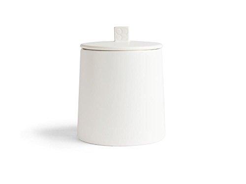 Bredemeijer Vorratsdose Lund 400g, weiß, Keramik, 12.2 x 12.2 x 15.2 cm