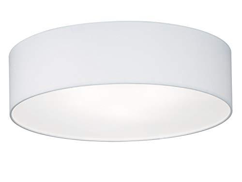 Fischer & Honsel Deckenleuchte Maat 3x E14 max. 40,0 Watt, weiß, Stoffschirm, 20008, 45 x 45 x 12 cm (LxBxH)
