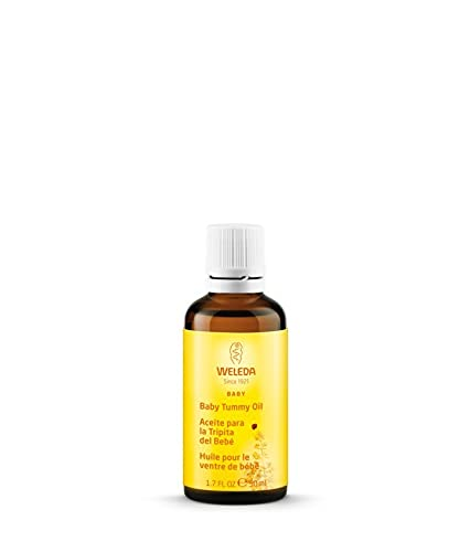 WELEDA Baby Bäuchlein Massageöl, Naturkosmetik Massage Öl gegen Bauchschmerzen und Krämpfe von Babys und Kleinkindern, Pflegeöl zur Verdauungsförderung (1 x 50 ml)