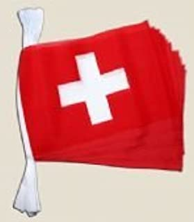 1000 Flags Switzerland Swiss Flag Polyester Bunting 6m