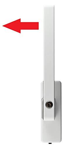 GU Schiebetür PSK Drehgriff abschließbar DIRIGENT 966/976 DIN Rechts weiss mit Aussperrsicherung incl. SN-TEC Montageschlüssel