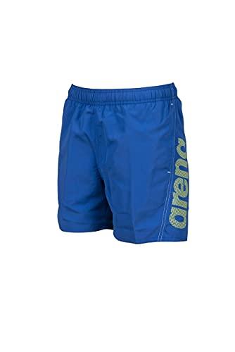 ARENA Jungen Fundamentals Arena Logo Jr Boxer Swim Trunks, Royal-soft Green-white, 164 EU