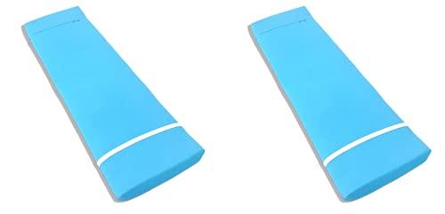 TIENDA EURASIA® Pack 2 Cojines para Tumbona Exterior de Jardin - Colchoneta 180 x 55 x 8 cm - Funda de Tela y Relleno de Fibra (Azul Celeste)