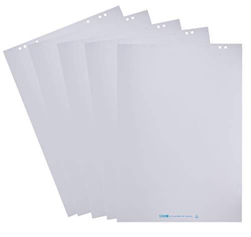 Landre Flipchart-Papier, blanko, mit 20 Blatt je Block, 5er Pack