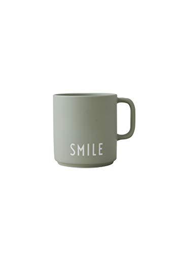 Design Letters Lieblingsbecher Grün SMILE | Tasse Personalisiert | Personalisierte Geschenke für Freund | Becher mit Spruch | Kaffeebecher/Kaffeetassen in Porzellan mit Buchstaben