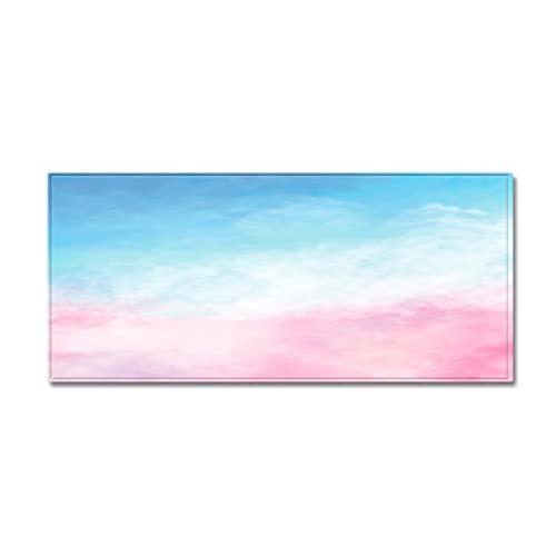 YDyun Calidad Alfombra,Adecuado para salón Dormitorio baño sofá Silla cojín Alfombrilla Antideslizante con impresión de Nubes de Color