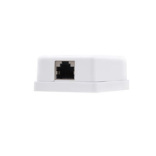 NanoCable 10.21.1101 - Roseta de superficie RJ45 con 1 toma de conexión Cat.5E FTP, blanco